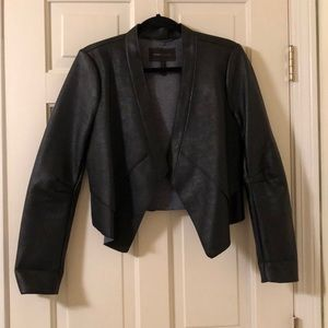 BCBG faux leather blazer